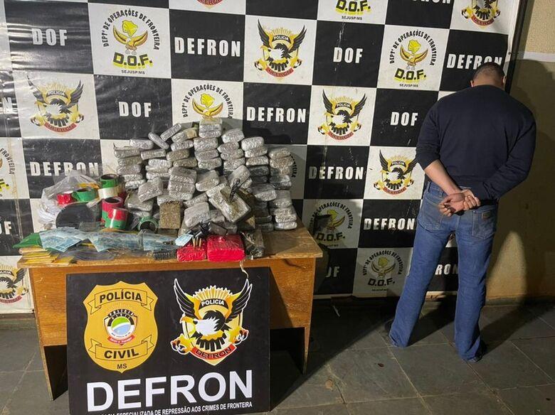 Defron fecha mais um entreposto de drogas no Bairro Bonanza e prende protético - Crédito: Divulgação