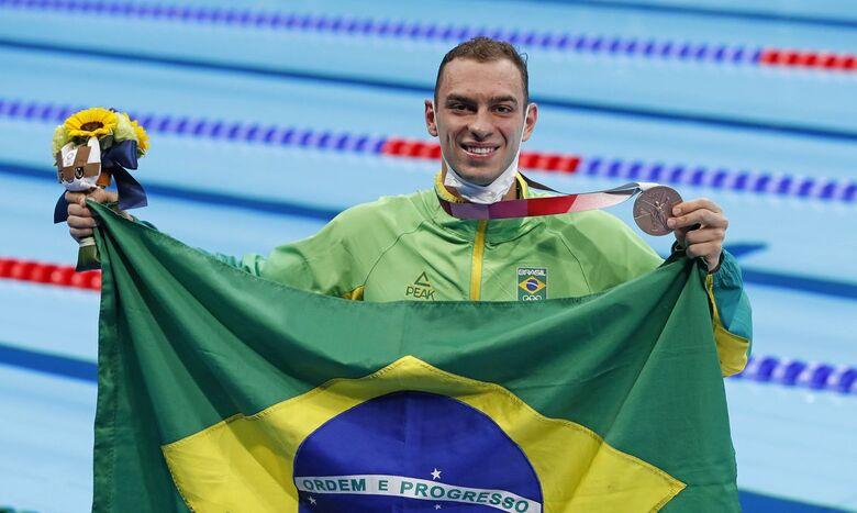 Olimpíada: Fernando Scheffer fatura bronze na natação - Crédito: Satiro Sodré/SSPress/CBDA/Direitos Reservados