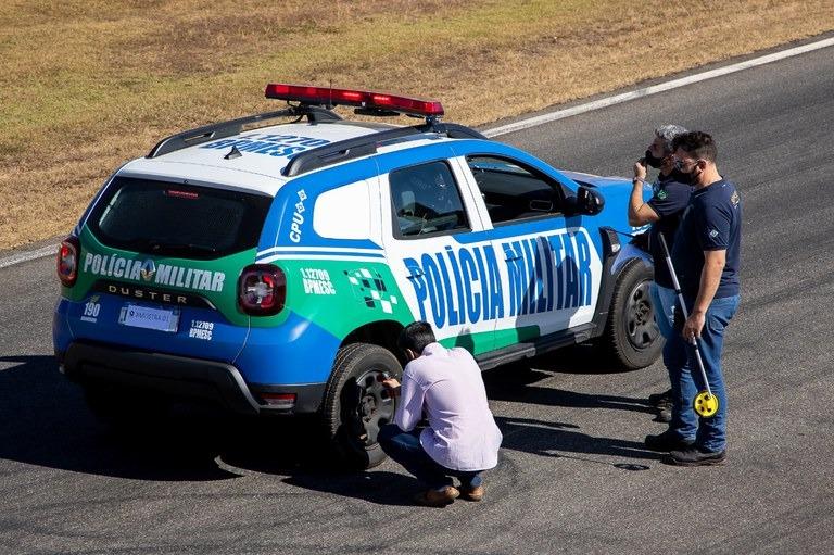 Testes contribuem para definir padrões de segurança para veículos de forças policiais - Crédito: PRF Goiás