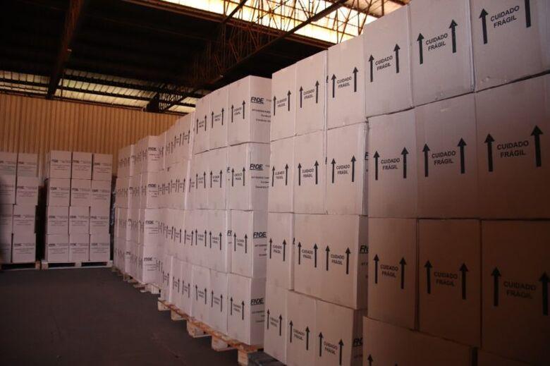Kits estão armazenados - Crédito: Assecom