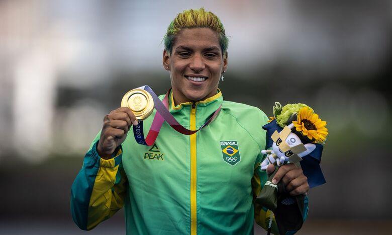 Ana Marcela Cunha é ouro na maratona aquática - Crédito: Jonne Roriz/COB/Direitos Reservados