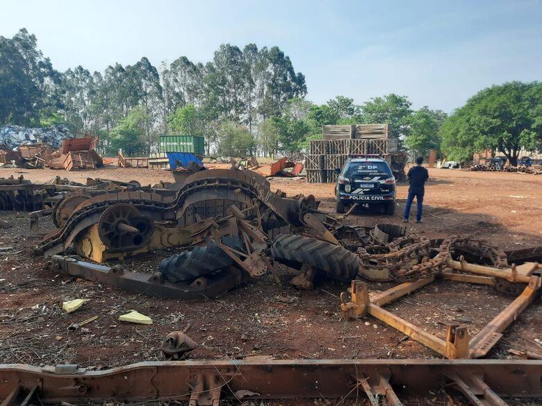 Polícia Civil de Dourados localiza implementos agrícolas e peças de máquinas -