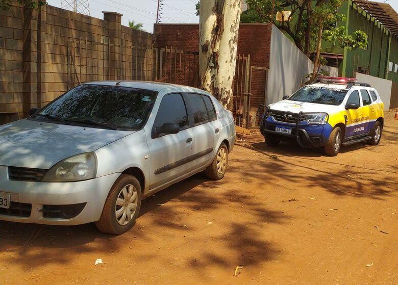 Veículo furtado em Dourados é recuperado pela Guarda Municipal -