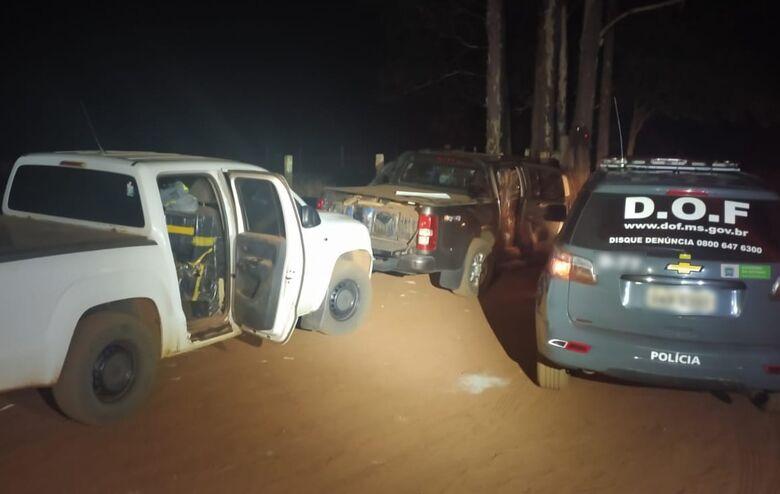 Camionetes com mais de duas toneladas de maconha são apreendidas pelo DOF - Crédito: Divulgação