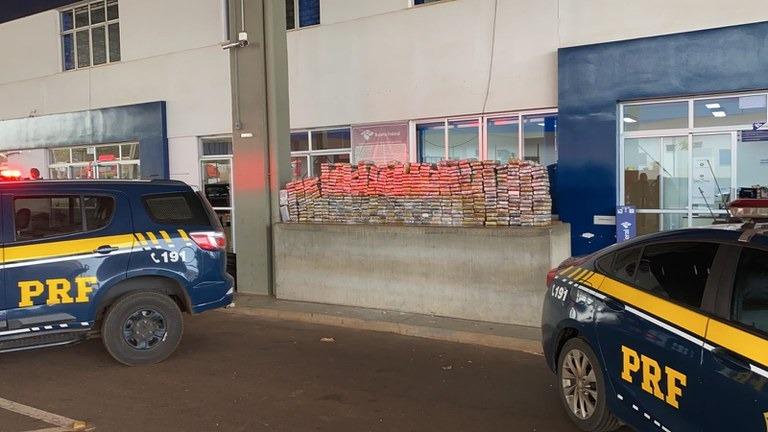 Polícia apreende carga de droga avaliada em R$ 86,5 milhões - Crédito: Divulgação/PRF