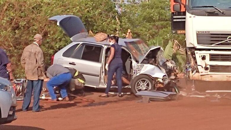 Duas mulheres morrem e homem fica gravemente ferido em acidente na MS-376 - Crédito: WASHINGTON LIMA/FÁTIMA EM DIA