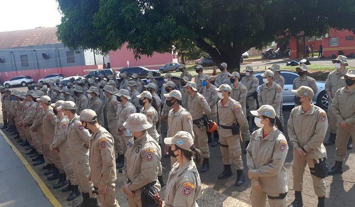 Mais 100 bombeiros são enviados para combate aos incêndios no Pantanal - Crédito: Corpo de Bombeiros