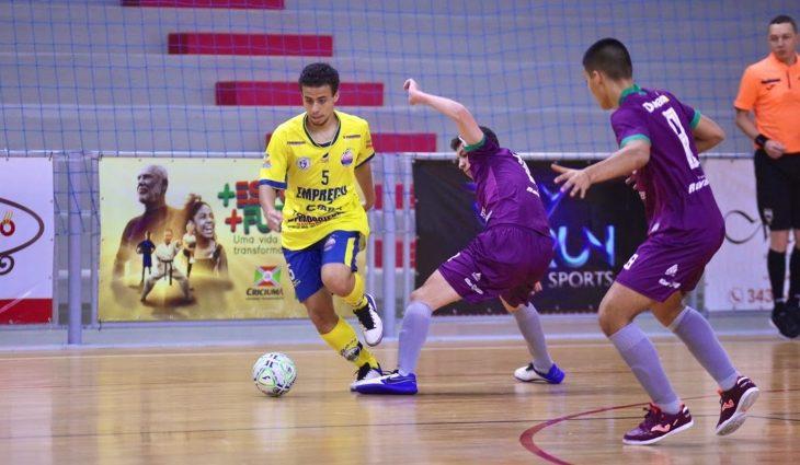 Time de Dourados não se classifica para próxima fase da Taça Brasil de Futsal Sub-17 - Crédito: Mônia Cris, CBFS
