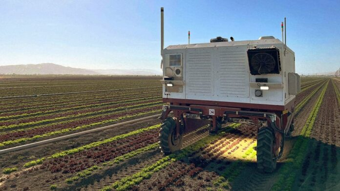 "Robô substitui agrotóxicos por laser para remover ""ervas daninhas"" - Crédito: Carbon Robotics"