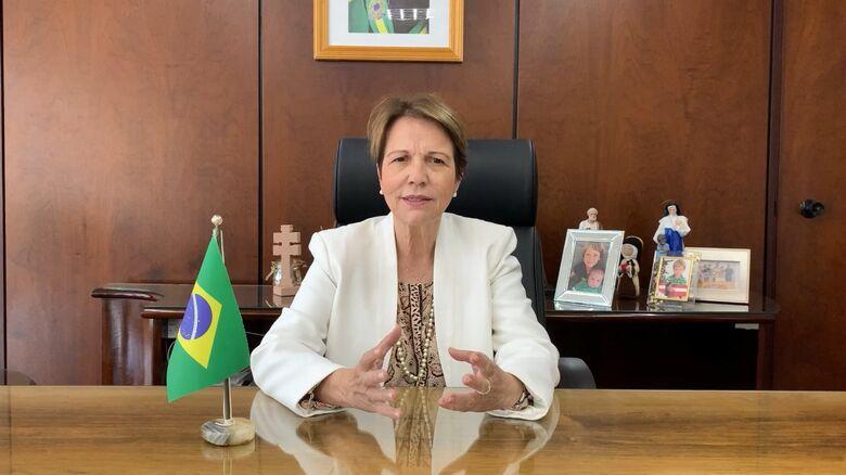 Tereza Cristina, Ministra da Agricultura, Pecuária e Abastecimento - Crédito: Assessoria