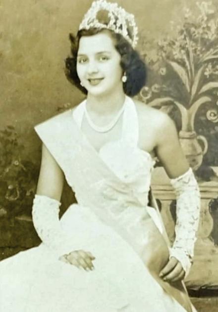 Ymera Senatore, aos 19 anos, em evento realizado no ano de 1951 - Crédito: Miguel Senatore