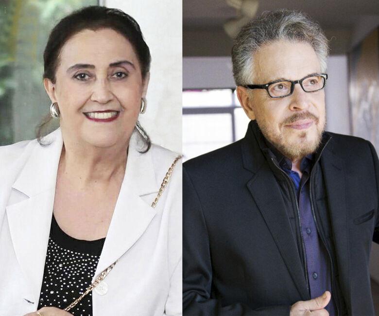 Os novos imortais Ana Maria Bernardelli e Humberto Espíndola - Crédito: Divulgação