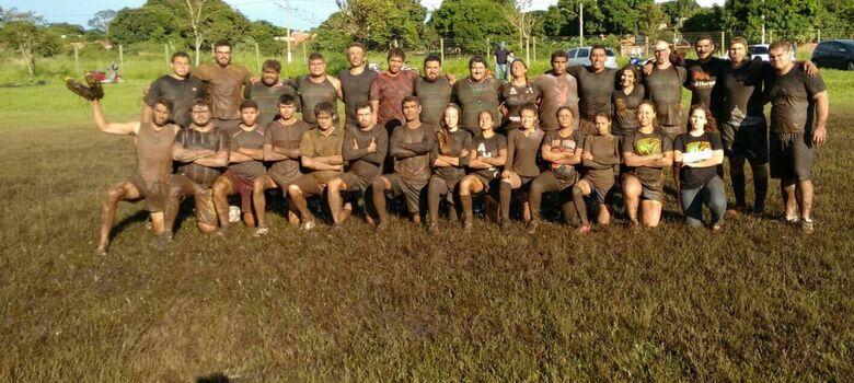 O time de Dourados durante treinos, em 2015 - Crédito: Arquivo Pessoal