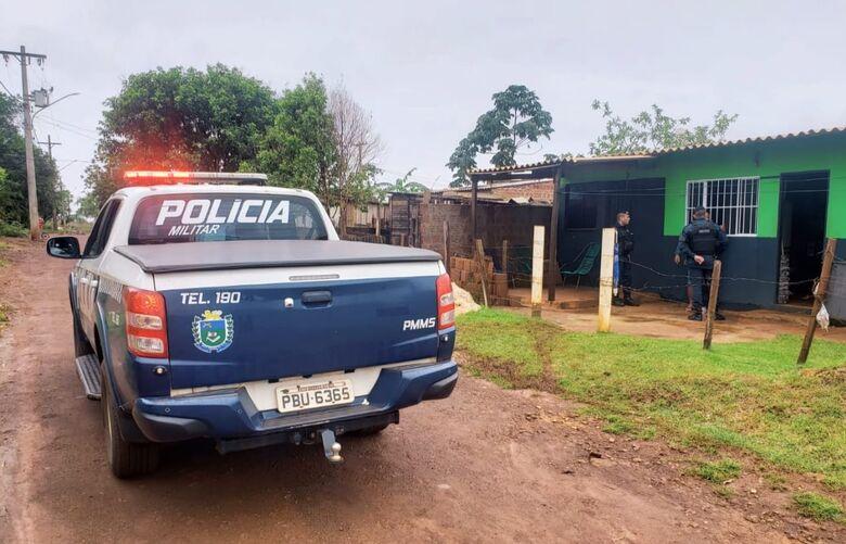 Ocorrência foi atendida pela PM no bairro Santa Felicidade - Crédito: Divulgação/PM