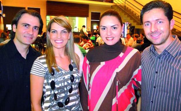 Proprietários da pizzaria: Rafael, Karin, Karine e Marcos -