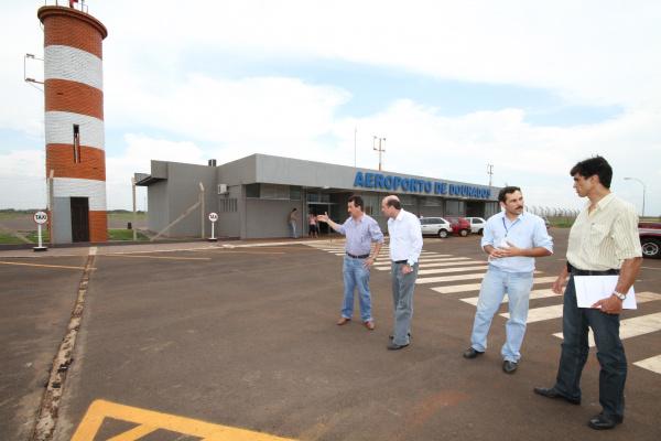 Secretários constataram que reestruturação do aeroporto de Dourados está quase concluída Crédito: A. Frota  -