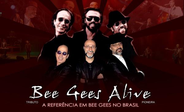 A banda paulistana Bee Gees Alive será atração neste sábado no Centro de Eventos Unigran Foto: divulgação -