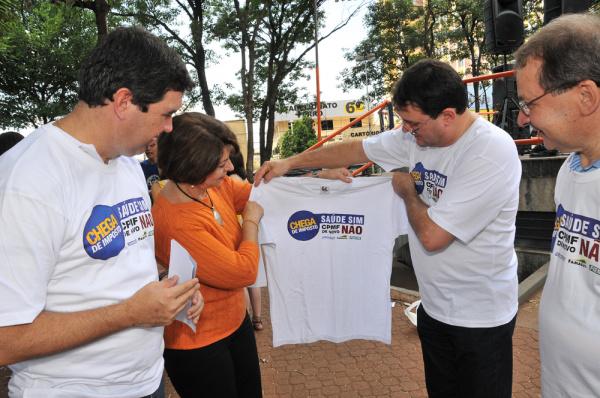 Marisa Serrano aderiu à campanha do setor produtivo contra a volta da CPMF Foto:Divulgçlão  -
