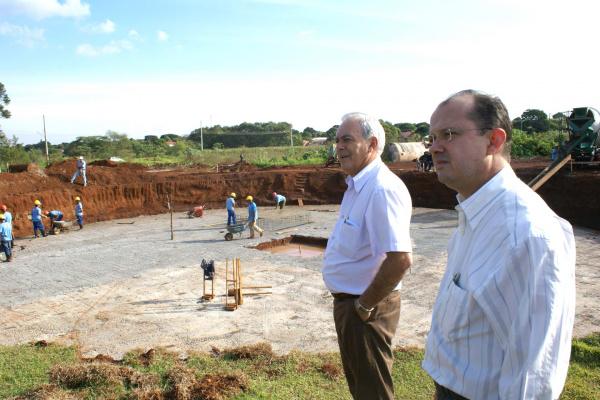 José Carlos Barbosa, vistoria implantação de obra em Dourados Foto:Divulgação  -