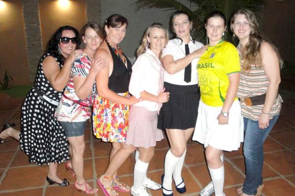 Marli, Vera, Inês, Anete, Margareth, Marluce e Luciana  -