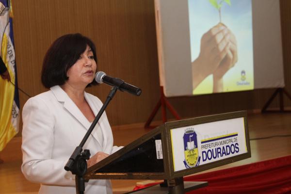 Prefeita Délia Razuk apresenta programação do aniversário de Dourados Foto: Aparecido Frota     -