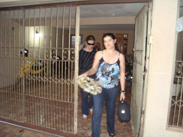 Maria Artuzi deixando Presídio Semiaberto Feminino no final da tarde de ontem foto: cido costa -