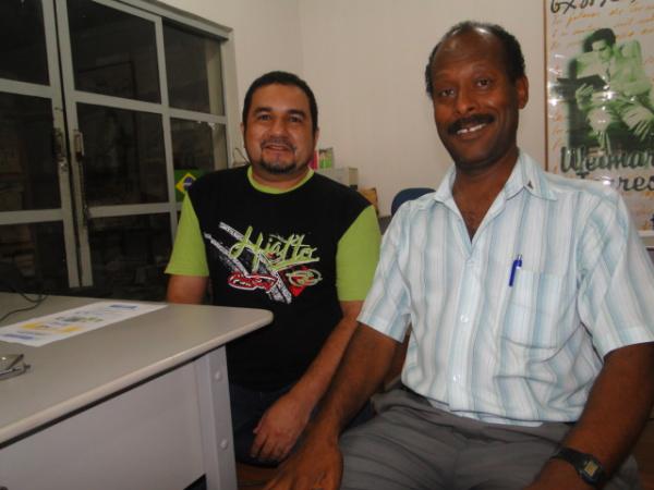 Serginho Sarate da Rádio Grande FM e Negão da Arapuca divulgando o evento Foto:  Jorge Eduardo -