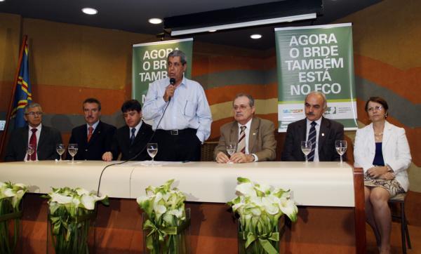 André discursa durante assinatura de convêncio entre Banco do Brasil e BRDE Foto: Rachid Waqued  -