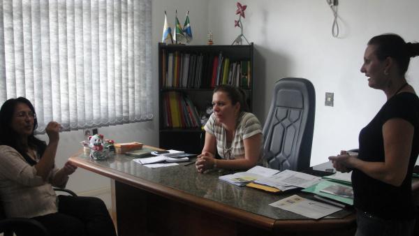 Visita da Professora Shirley a Secretária de Educação  Foto: Divulgação -