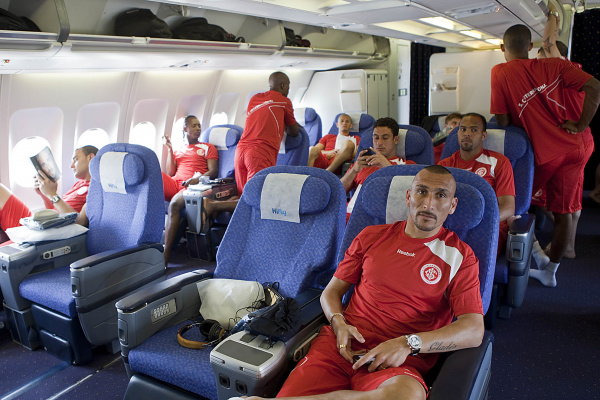 Equipe do Internacional, favorita ao título, embarcou ontem para a disputa do Mundial Foto/Divulgação/Jefferson Bernardes  -