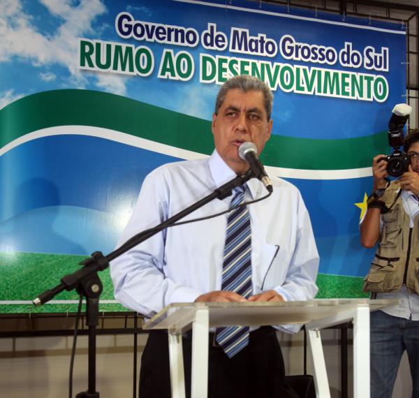 O Governador André Puccinelli que estará hoje em Rio Brilhante  - Crédito: Foto: Divulgação