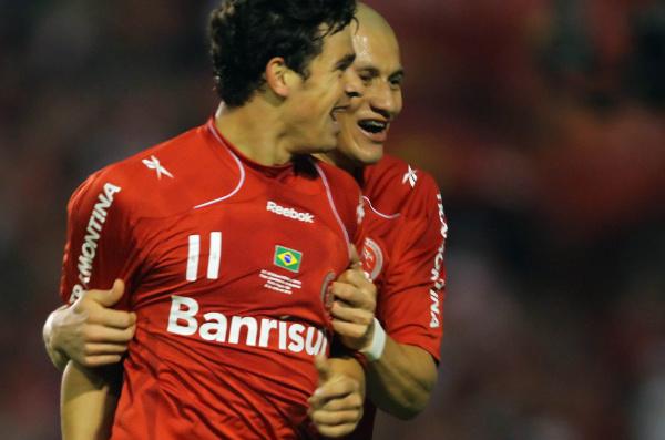 Atacante Giuliano foi considerado o trevo de quatro folhas do Inter na Libertadores  - Crédito: Foto: Reprodução