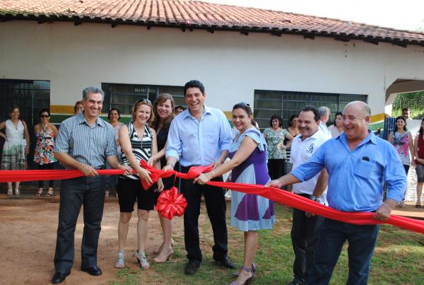 Inauguração do CIEI Auxiliadora com a presença  de Reinaldo Azambuja  - Crédito: Foto: Divulgação