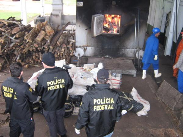 Mais de 200 kg de maconha foi destruído em Dourados Foto: Divulgação -