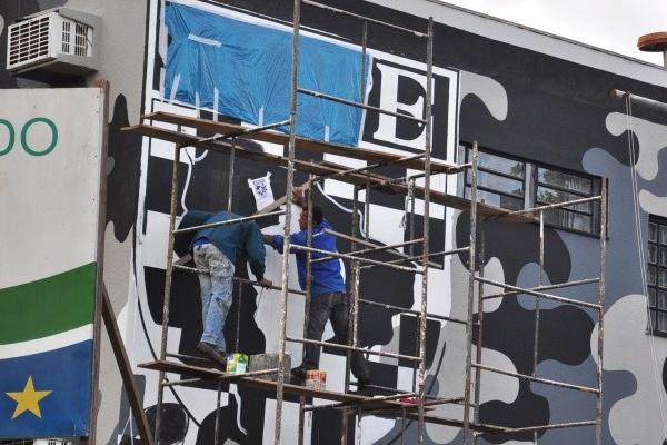 Letreiro do prédio com o novo nome já está pronto  Foto:Divulgação   -