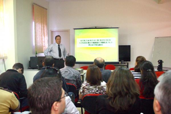 Reunião no Hemosul apresentou o procedimento de implantação do banco  - Crédito: Foto: Edemir Rodrigues
