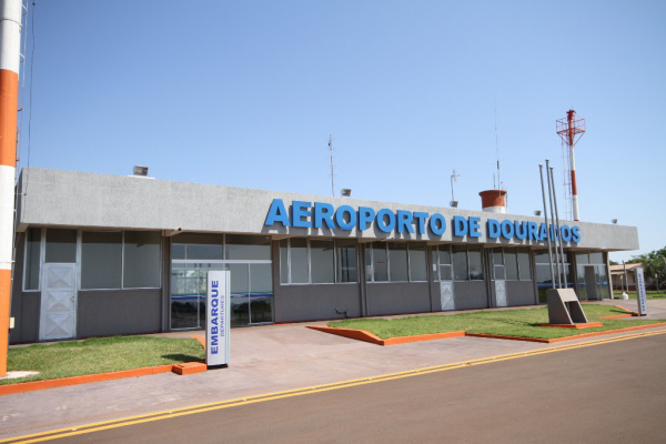 Reforma do aeroporto será inaugurada na segunda, no dia do aniversário de Dourados  - Crédito: Foto: A. Frota