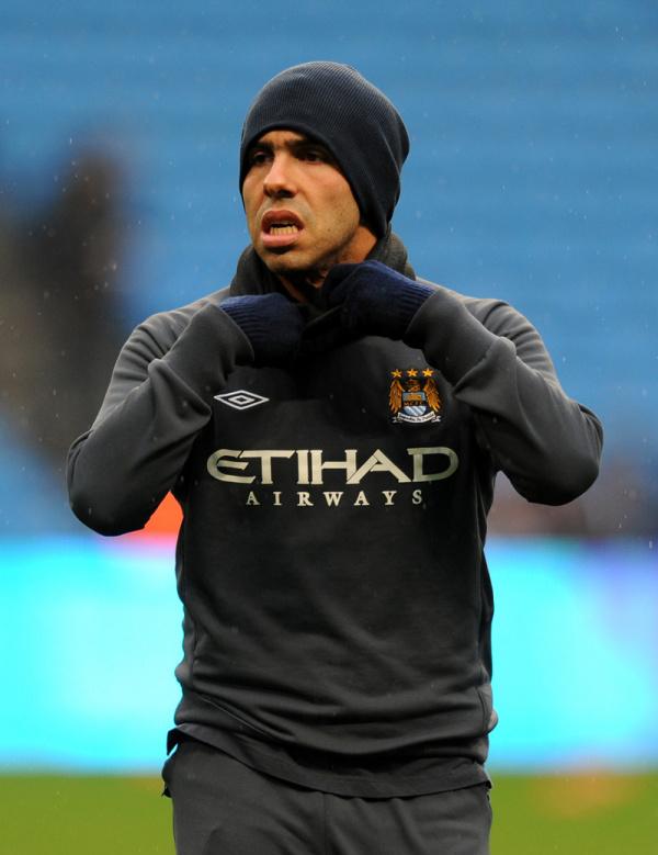 Tevez se entende com o Manchester City e pode voltar a abrir o sorriso na Inglaterra   - Crédito: Foto: Reuters