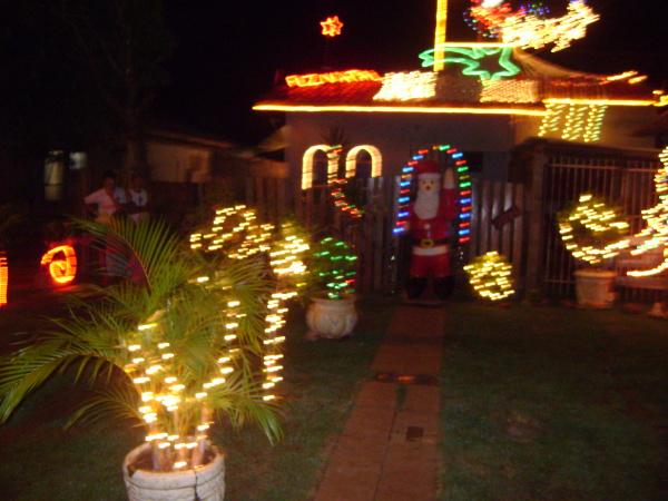 Imóvel residencial vencedor do concurso Caarapó Iluminado  - Crédito: Foto: Divulgação