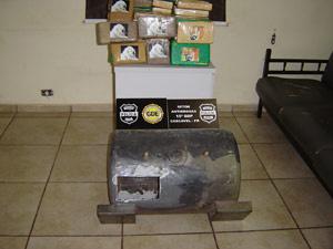 Droga foi encontrada em peça falsa de caminhão, diz polícia - Crédito: Foto: Divulgação/Policia Civil do Paraná