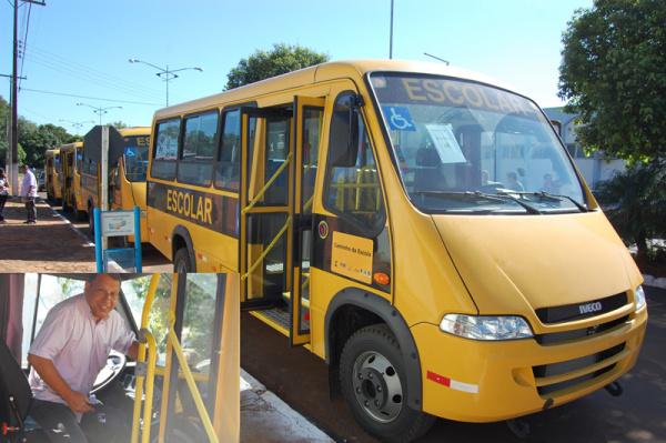 Quatro novos micro-ônibus zero km, estarão a disposição dos alunos  - Crédito: Foto: Divulgação