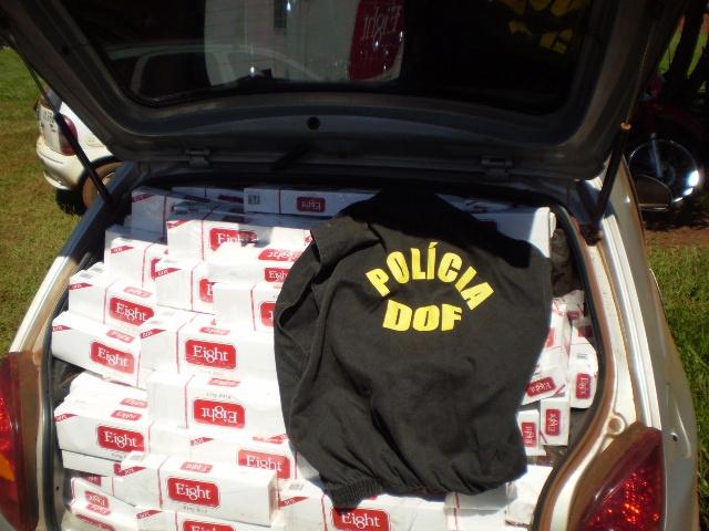 DOF apreende 4 mil pacotes de cigarro - Crédito: Foto: Div