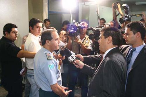 Coronel David anunciou novos batalhões durante coletiva   - Crédito: Foto: Edemir Rodrigues