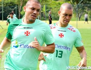 Marcel e Eduardo Costa em Atibaia  - Crédito: Foto: Marcelo Sadio / Site Oficial do Vasco