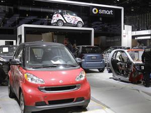 Estande do smart no Cobo Center - Crédito: Foto: AP