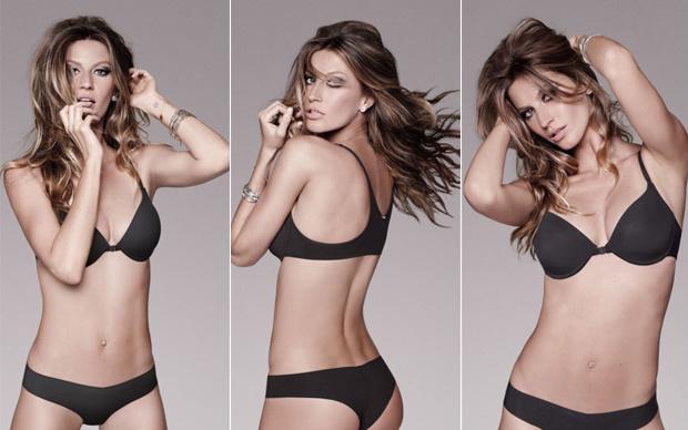 Gisele Bündchen em campanha de marca de lingerie  - Crédito: Foto: Divulgação