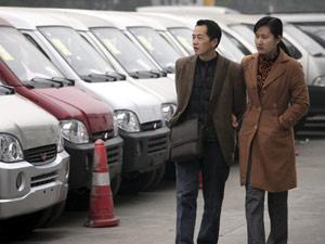 Vendas de carros na China sobem  - Crédito: Foto: Eugene Hoshiko/AP