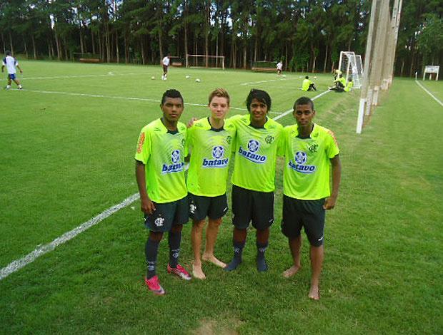 Romário, Adryan, Digão e Muralha no treino do Flamengo - Crédito: Foto: Richard Souza / GLOBOESPORTE.COM