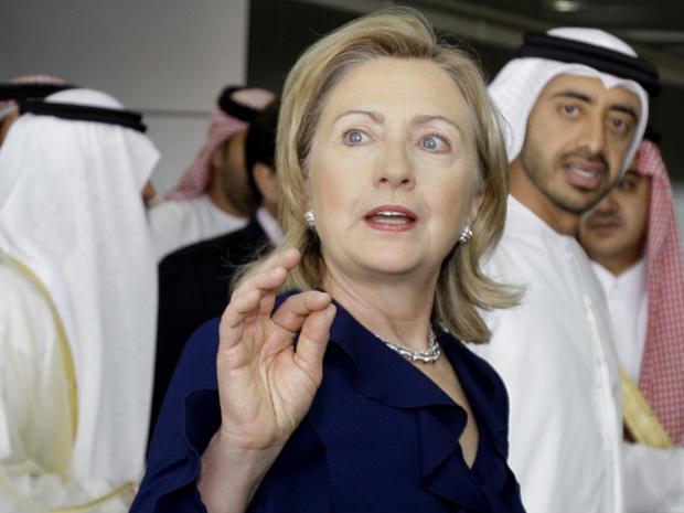 A secretária de Estado dos EUA, Hillary Clinton, nesta segunda-feira - Crédito: Foto: AP
