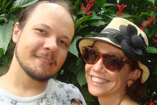 Os noivos Rogério e June -